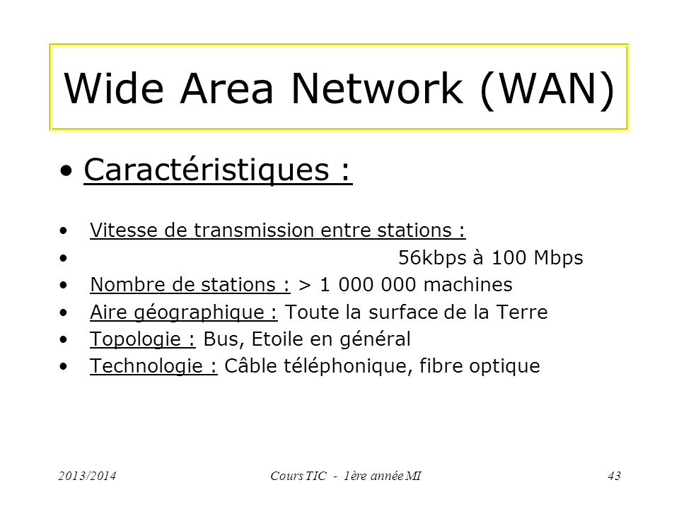 Wide Area Network (WAN)