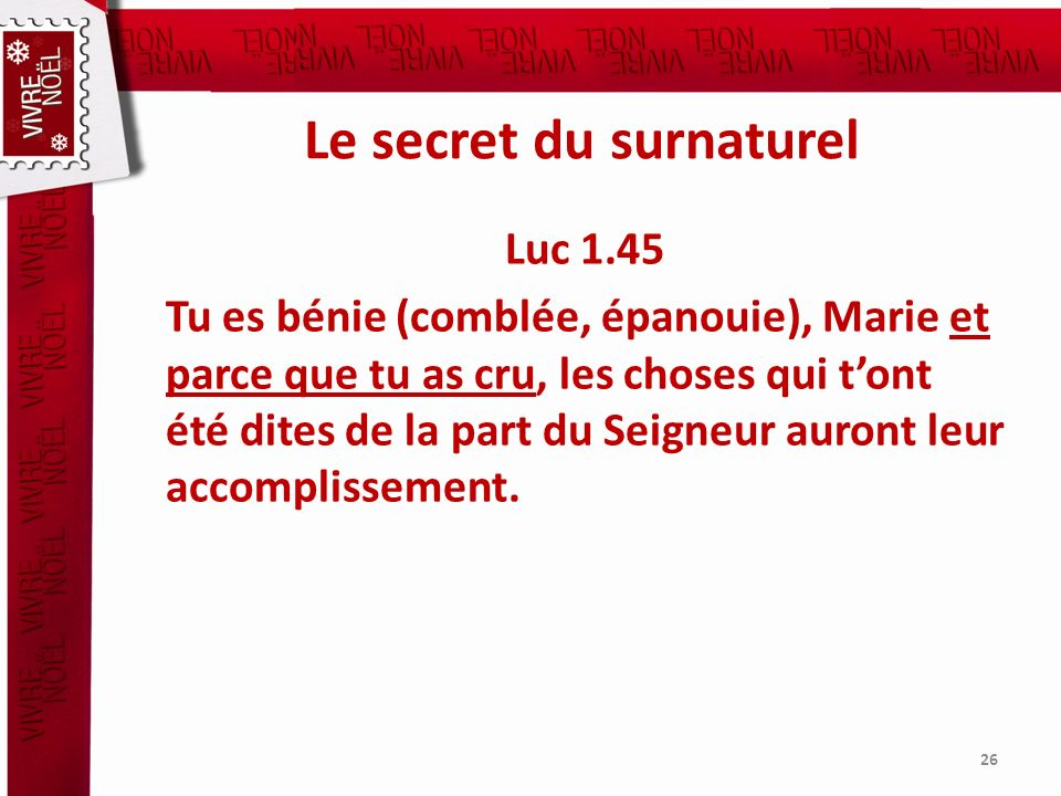 Le secret du surnaturel