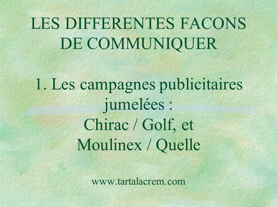 LES DIFFERENTES FACONS DE COMMUNIQUER 1