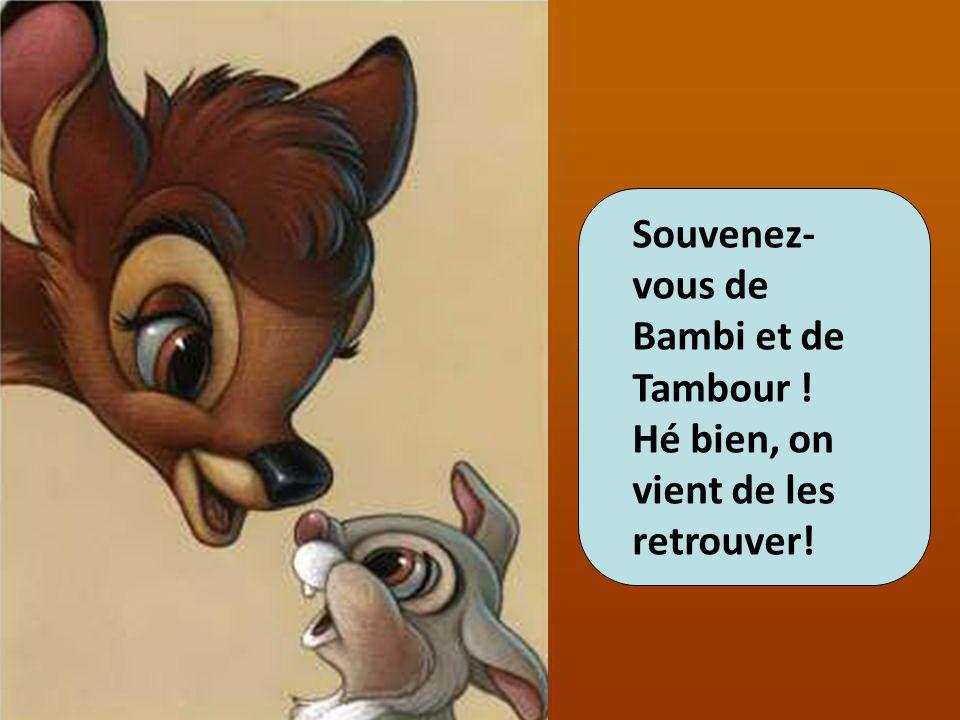 Souvenez-vous de Bambi et de Tambour