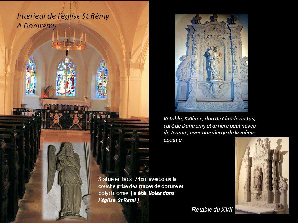 Intérieur de l'église St Rémy à Domrémy