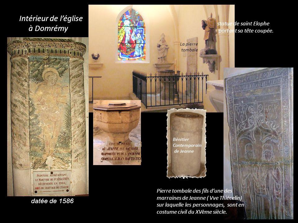 Intérieur de l'église à Domrémy datée de 1586 statue de saint Elophe
