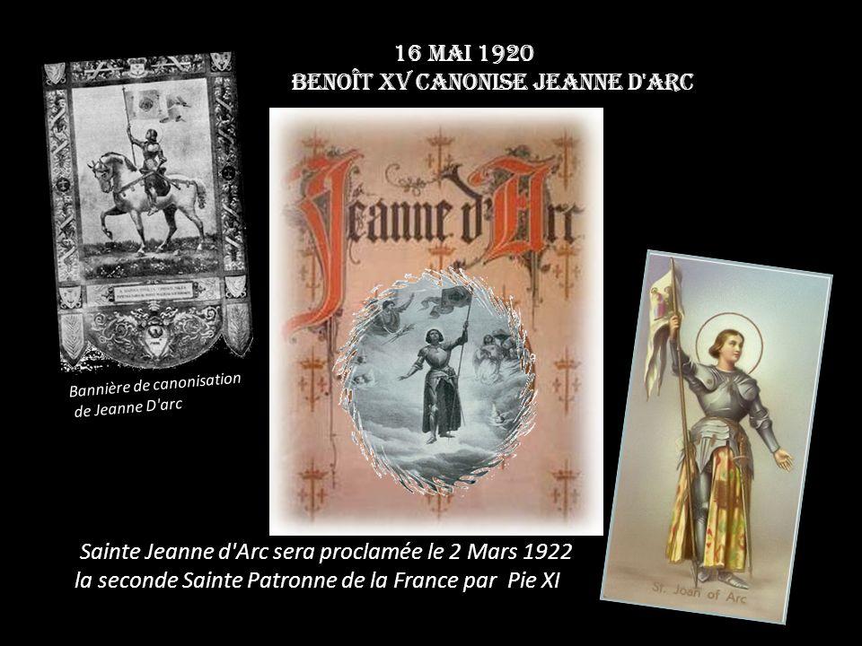 Benoît XV canonise Jeanne d Arc