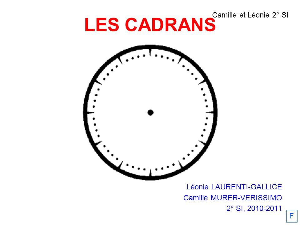 LES CADRANS Camille et Léonie 2° SI Léonie LAURENTI-GALLICE