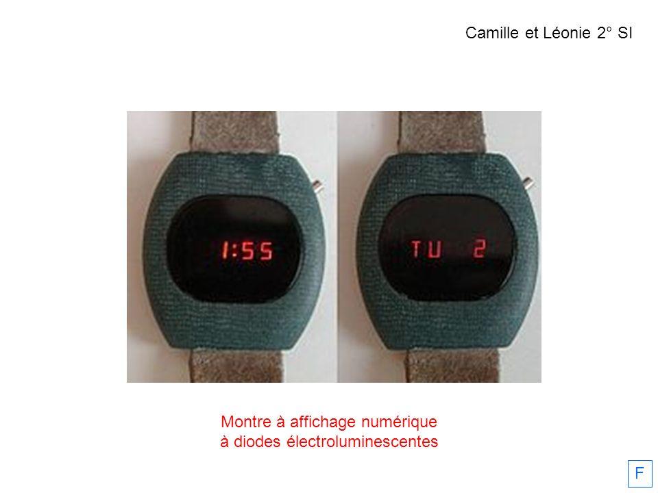 Montre à affichage numérique à diodes électroluminescentes