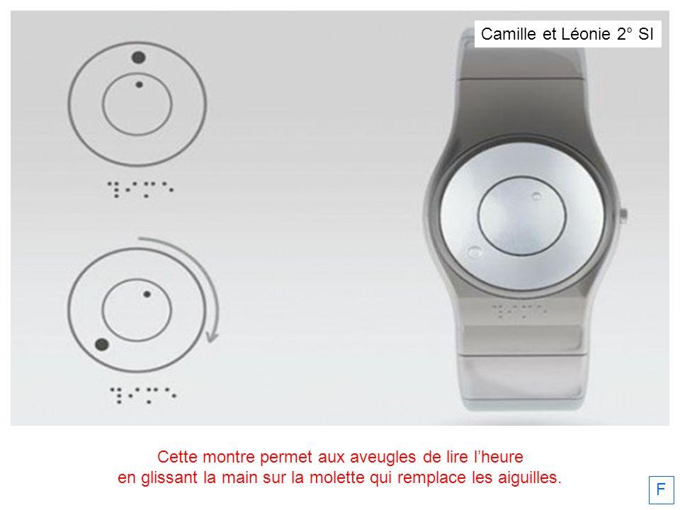 Cette montre permet aux aveugles de lire l'heure