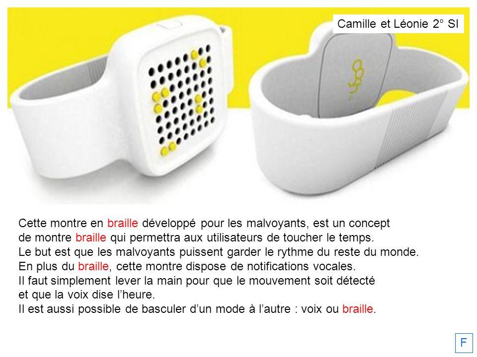 Camille et Léonie 2° SI Cette montre en braille développé pour les malvoyants, est un concept.