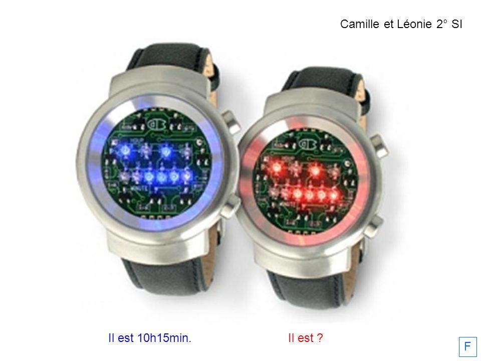 Camille et Léonie 2° SI Il est 10h15min. Il est F