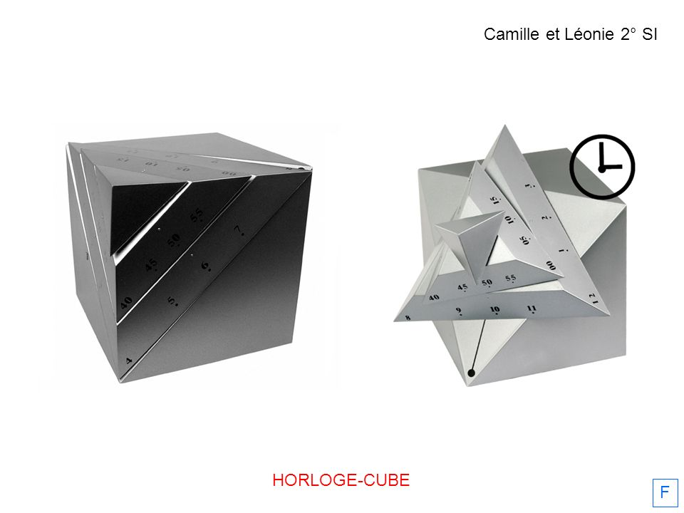 Camille et Léonie 2° SI HORLOGE-CUBE F