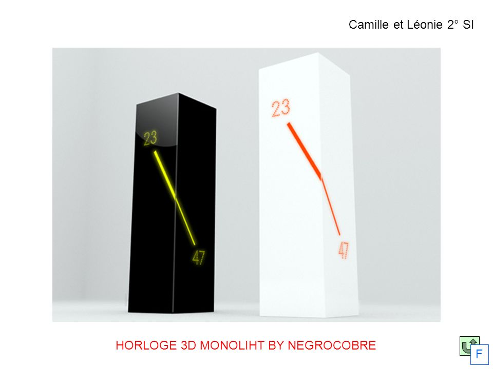HORLOGE 3D MONOLIHT BY NEGROCOBRE
