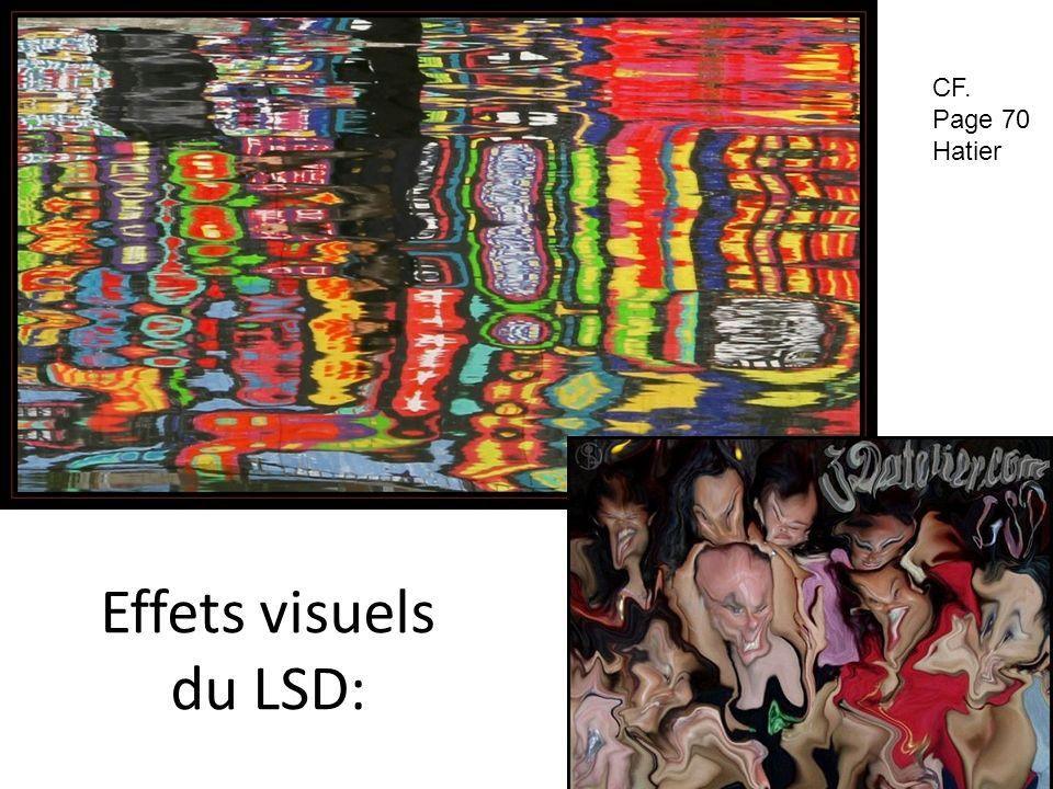 Effets visuels du LSD: CF. Page 70 Hatier