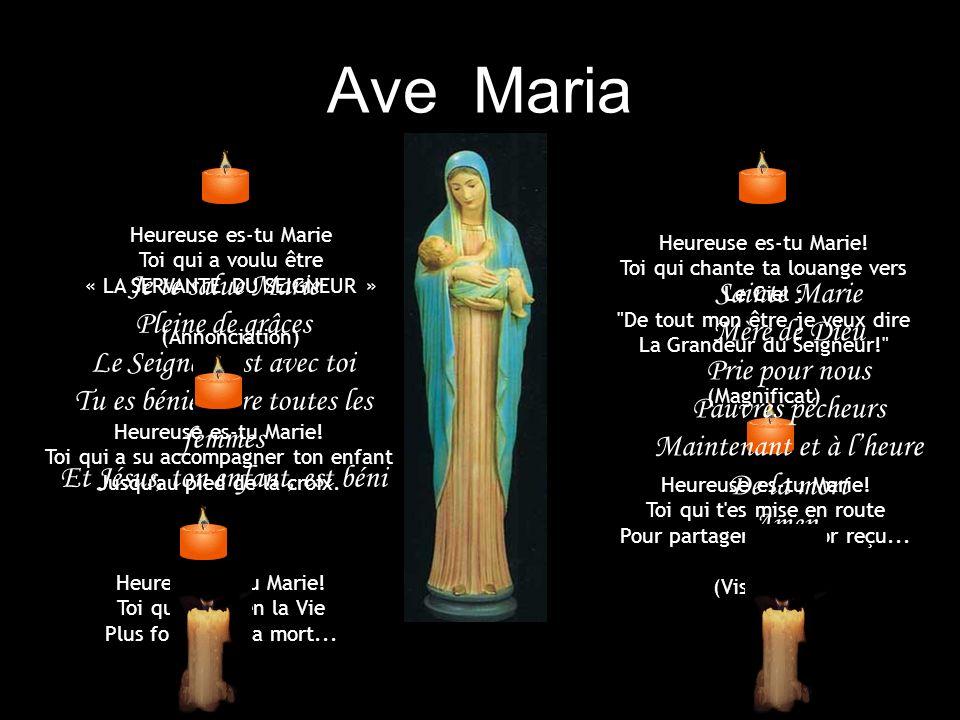 Ave Maria Je te salue Marie Sainte Marie Pleine de grâces Mère de Dieu