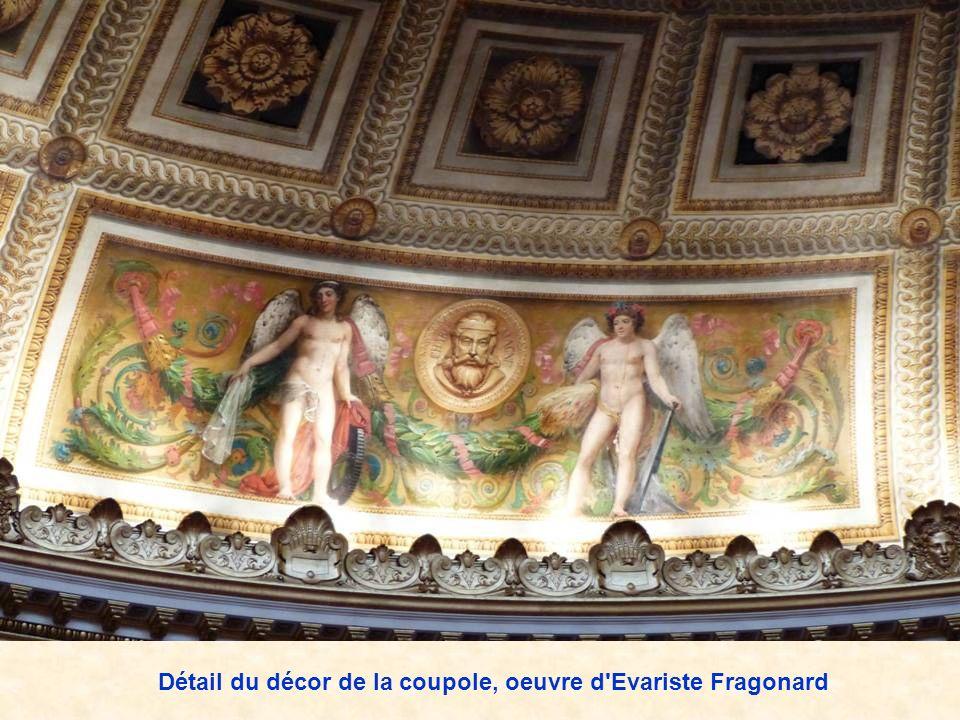 Détail du décor de la coupole, oeuvre d Evariste Fragonard