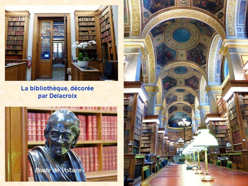 La bibliothèque, décorée par Delacroix
