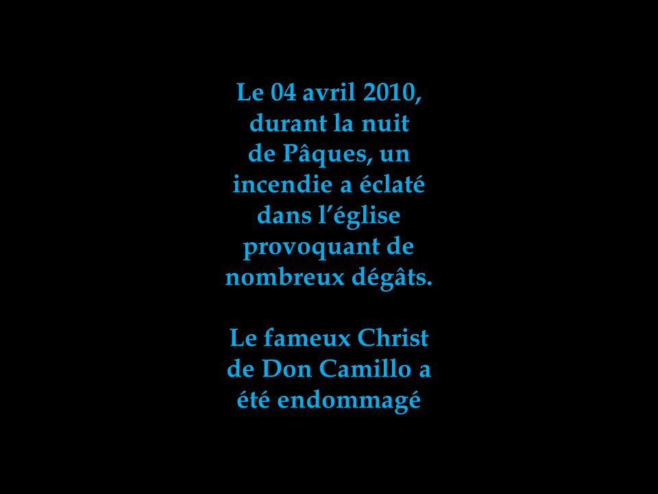 Le 04 avril 2010, durant la nuit. de Pâques, un. incendie a éclaté. dans l'église. provoquant de.