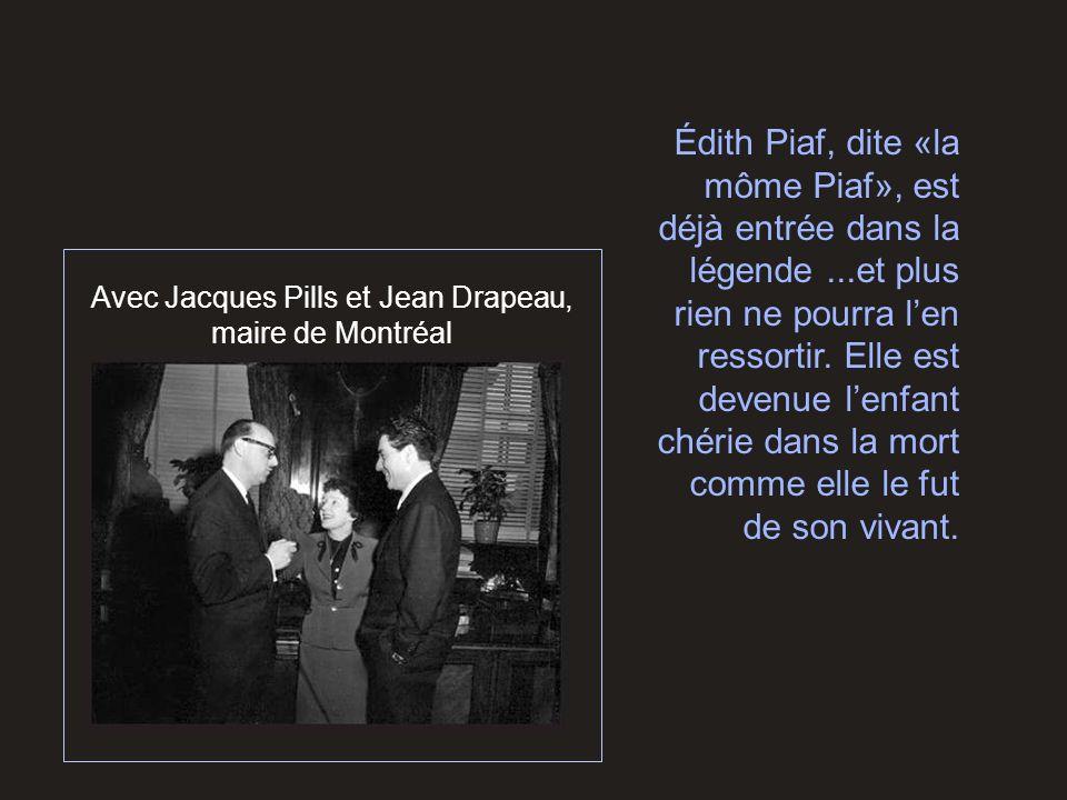 Avec Jacques Pills et Jean Drapeau, maire de Montréal