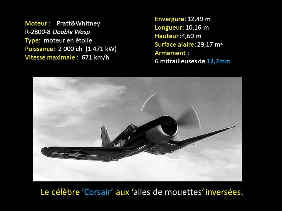 Le célèbre 'Corsair' aux 'ailes de mouettes' inversées.