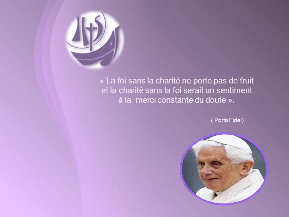 « La foi sans la charité ne porte pas de fruit