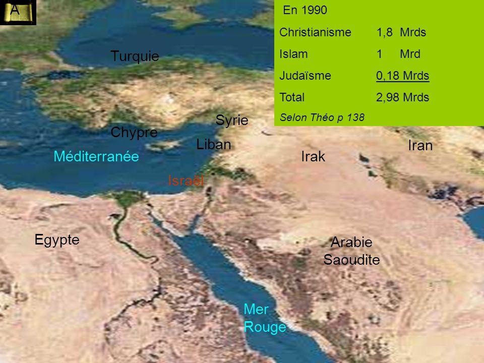 A Turquie Syrie Chypre Liban Iran Méditerranée Irak Israël Egypte