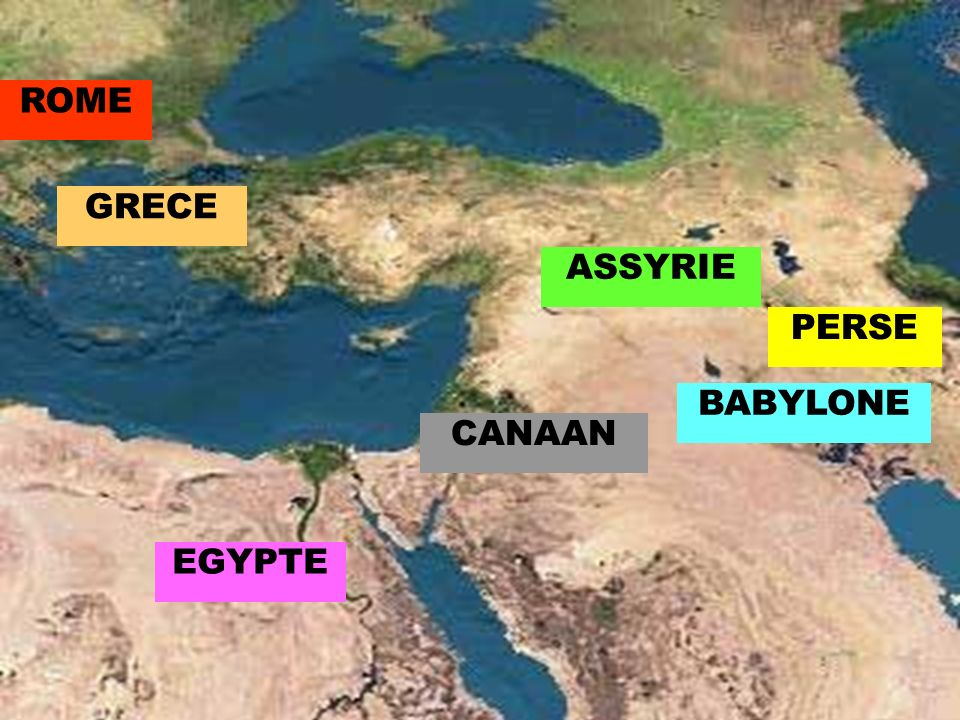 ROME GRECE ASSYRIE PERSE BABYLONE CANAAN EGYPTE