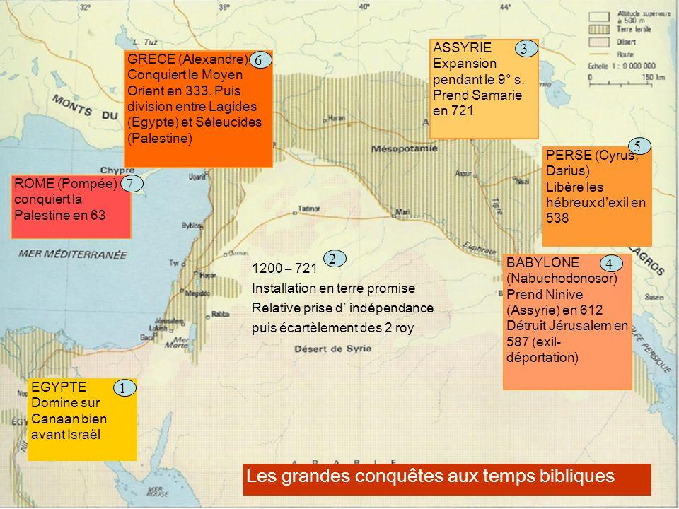 Les grandes conquêtes aux temps bibliques