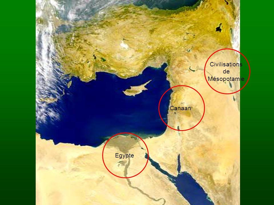 Civilisations de Mésopotamie Canaan Egypte