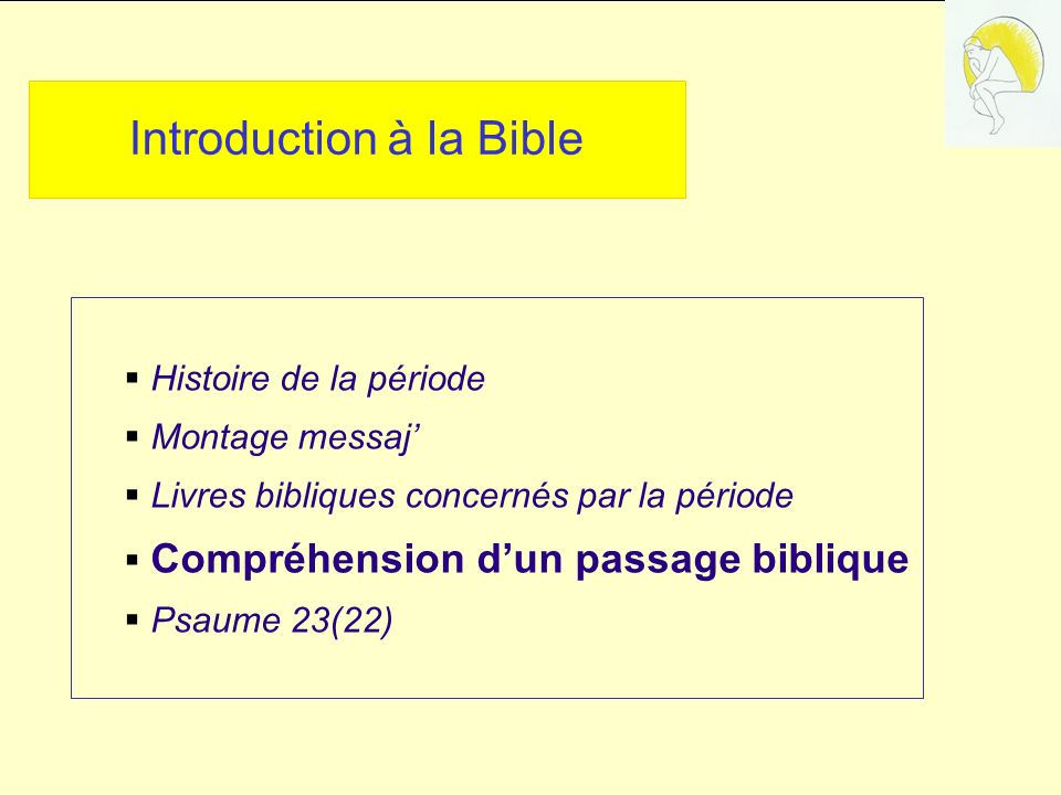 Introduction à la Bible