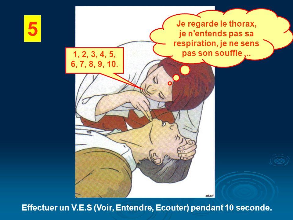 Effectuer un V.E.S (Voir, Entendre, Ecouter) pendant 10 seconde.