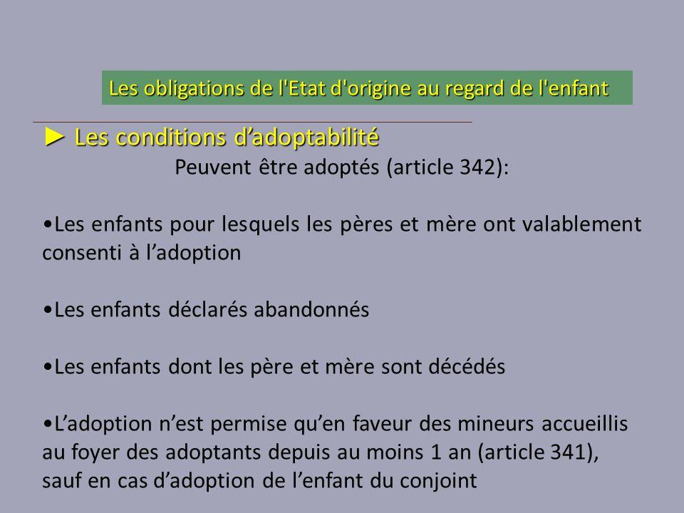 Peuvent être adoptés (article 342):