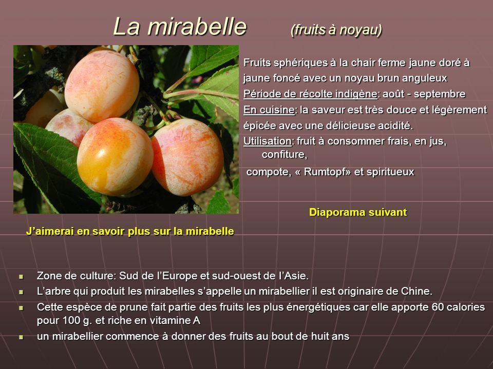 La mirabelle (fruits à noyau)