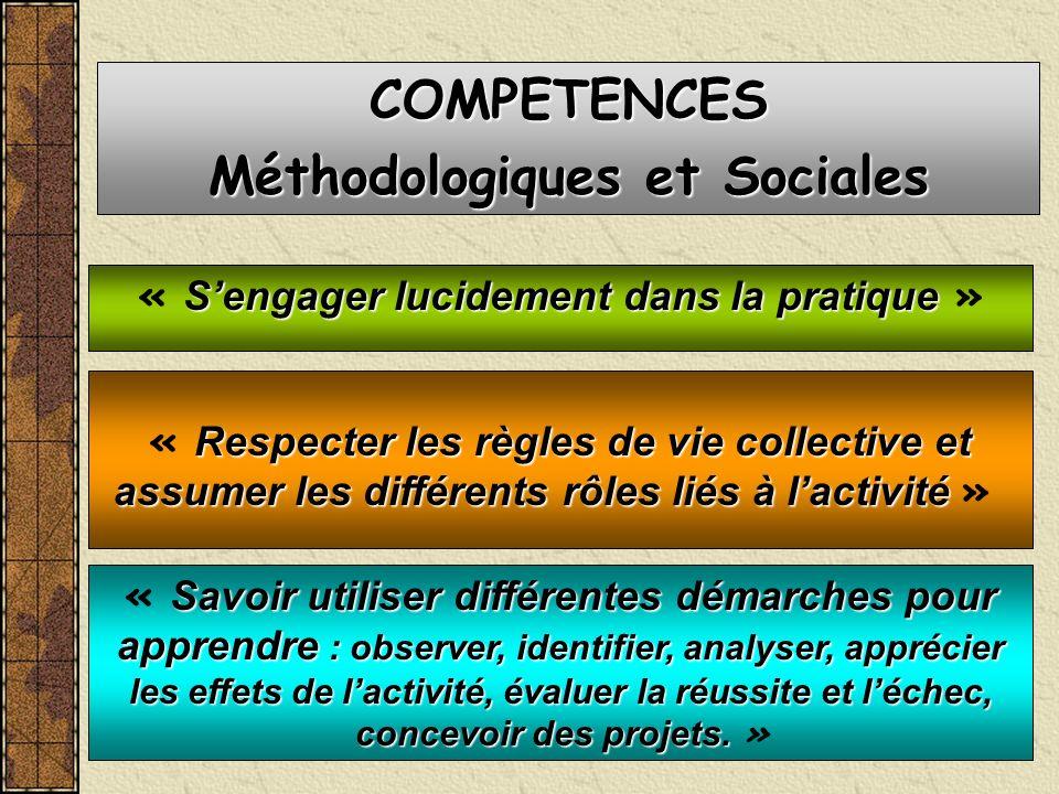 Méthodologiques et Sociales « S'engager lucidement dans la pratique »
