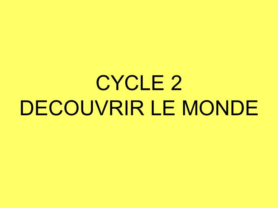 CYCLE 2 DECOUVRIR LE MONDE