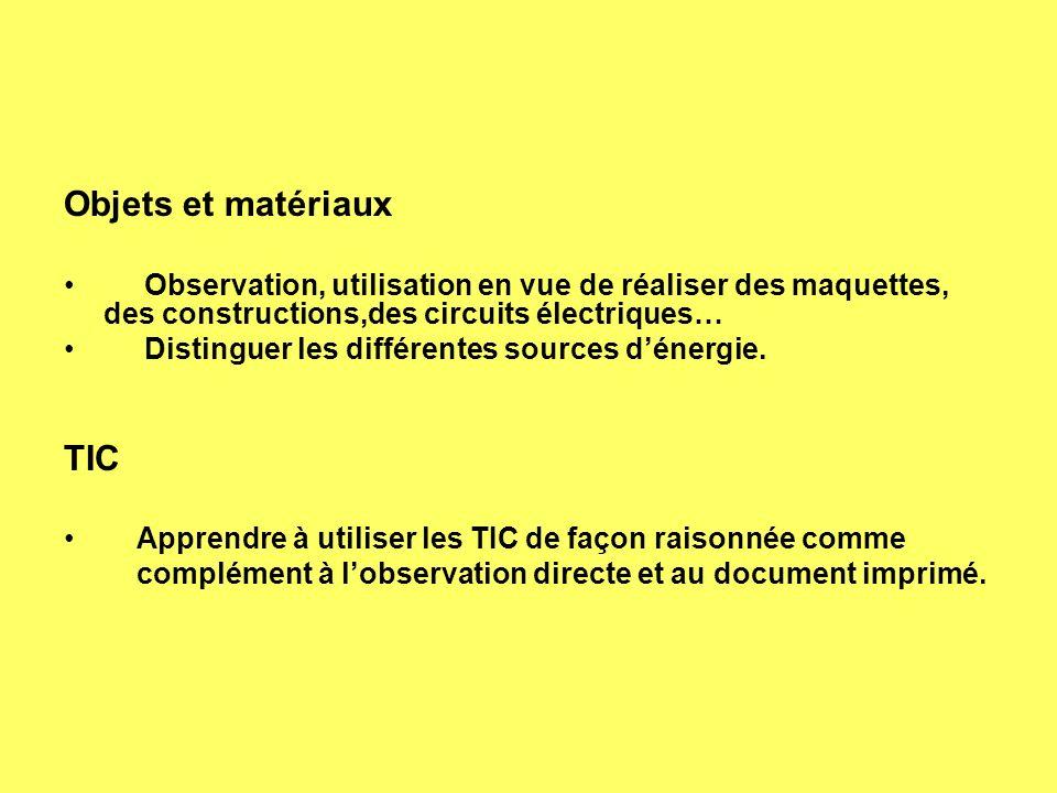 Objets et matériaux TIC