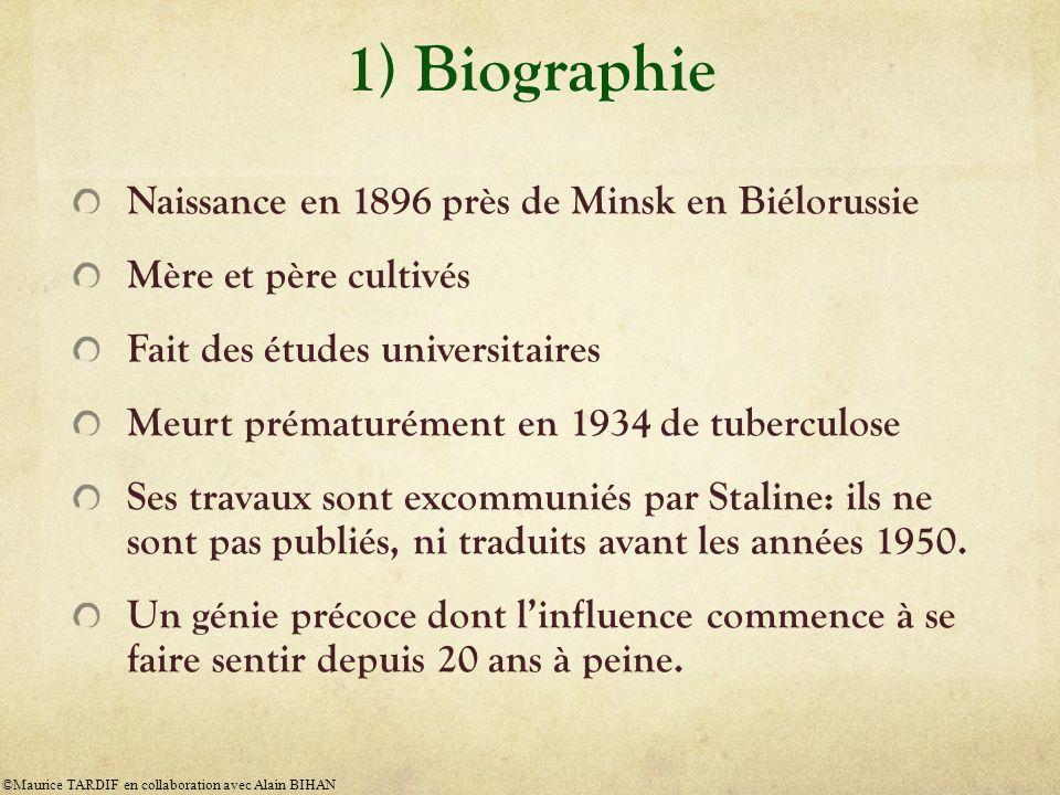 1) Biographie Naissance en 1896 près de Minsk en Biélorussie