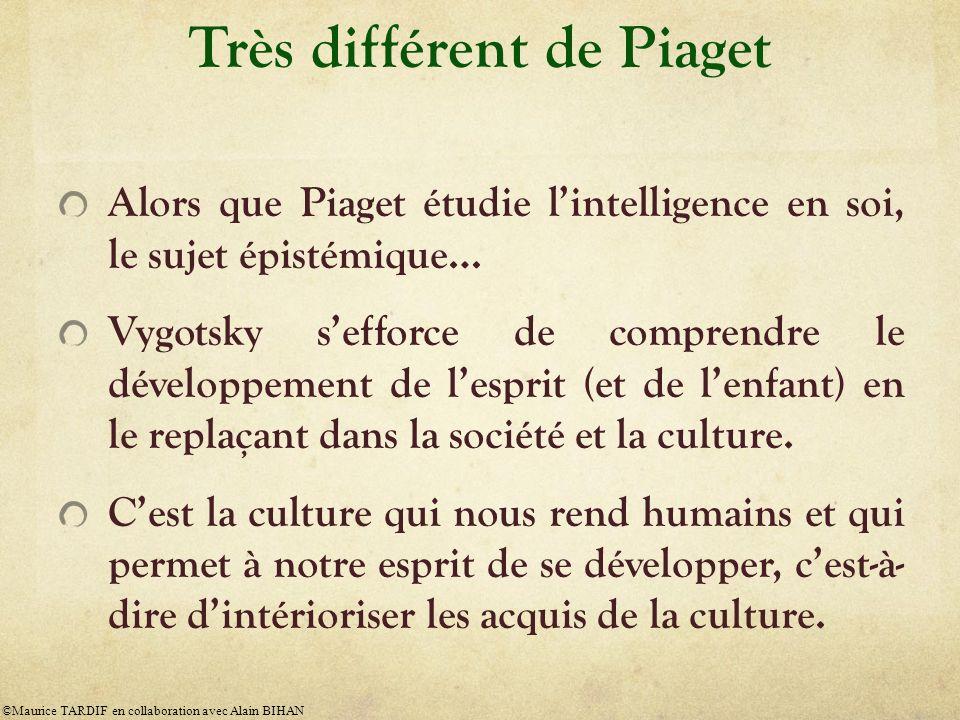 Très différent de Piaget