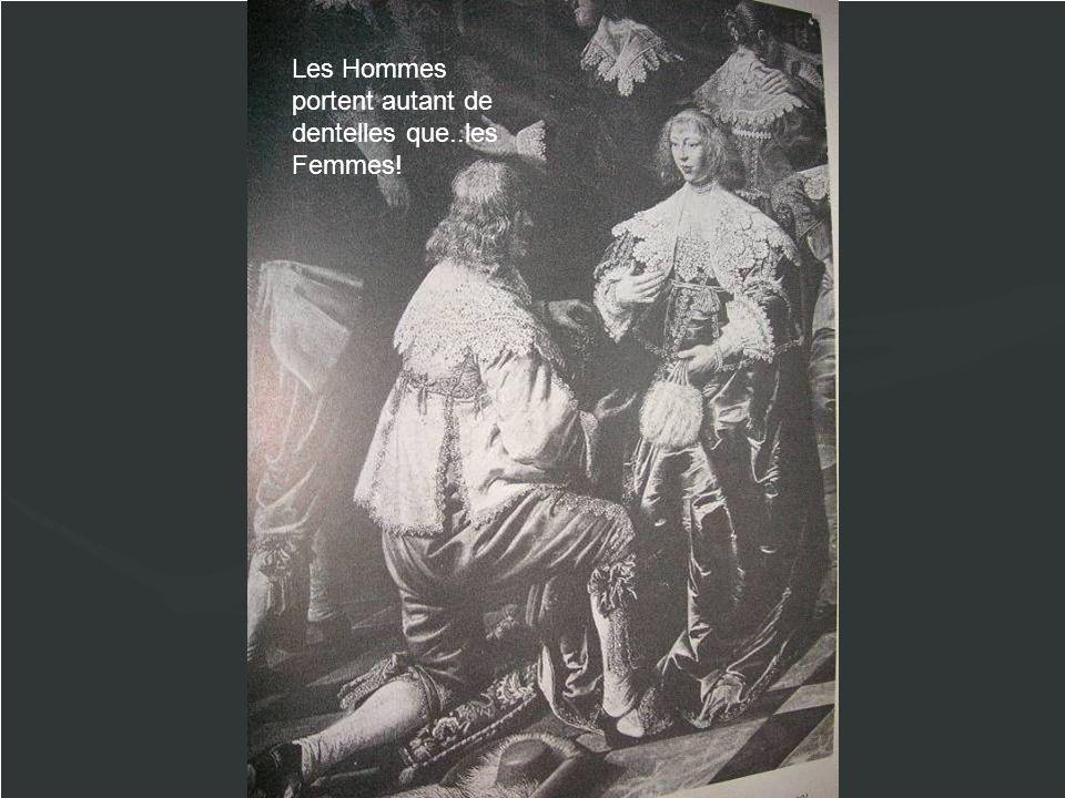 Les Hommes portent autant de dentelles que..les Femmes!