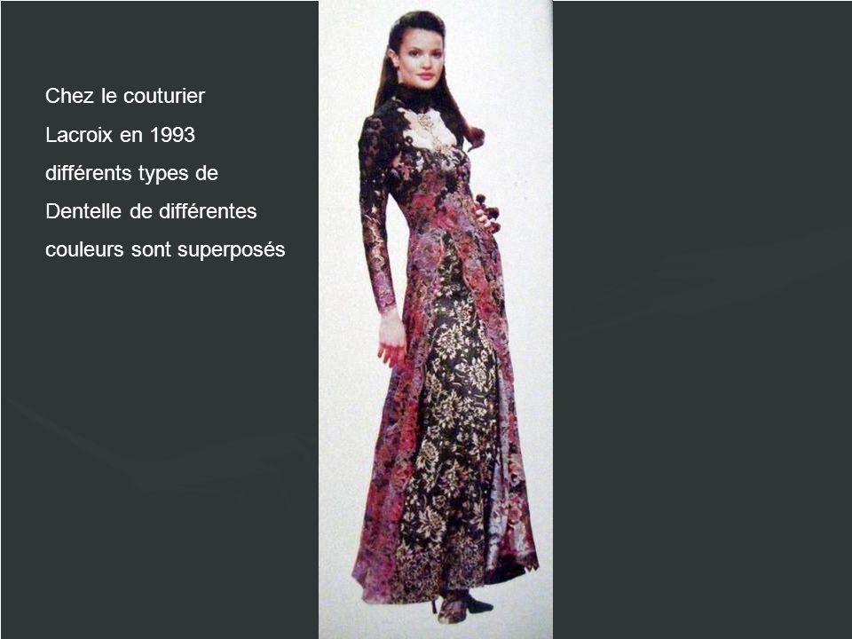 Chez le couturier Lacroix en 1993. différents types de.