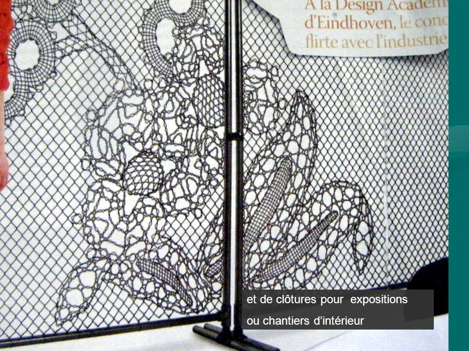 et de clôtures pour expositions