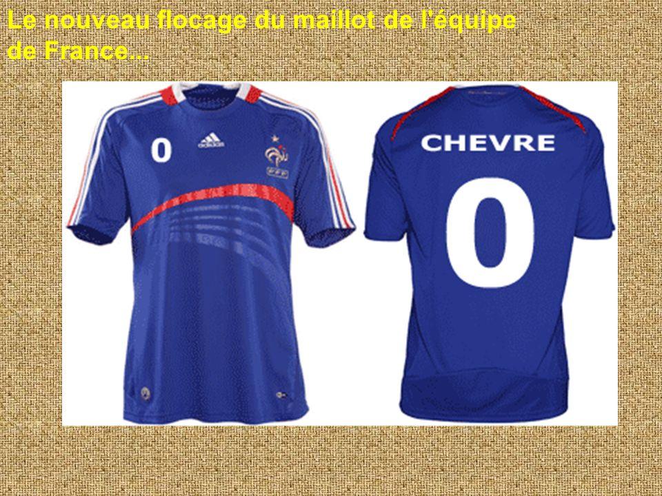 Le nouveau flocage du maillot de l équipe de France...