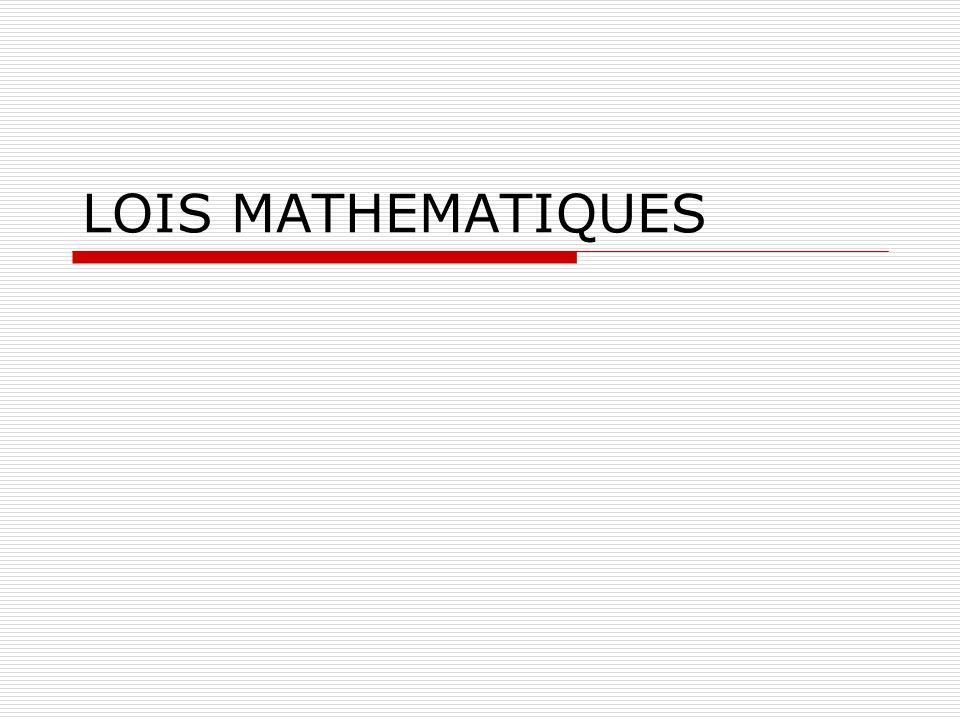 LOIS MATHEMATIQUES