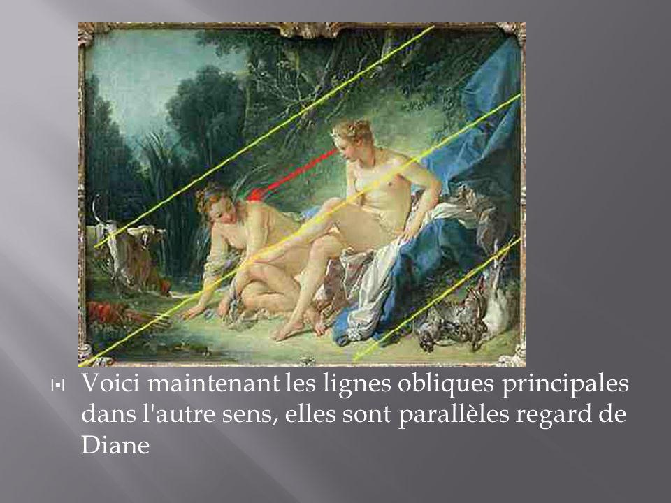Voici maintenant les lignes obliques principales dans l autre sens, elles sont parallèles regard de Diane