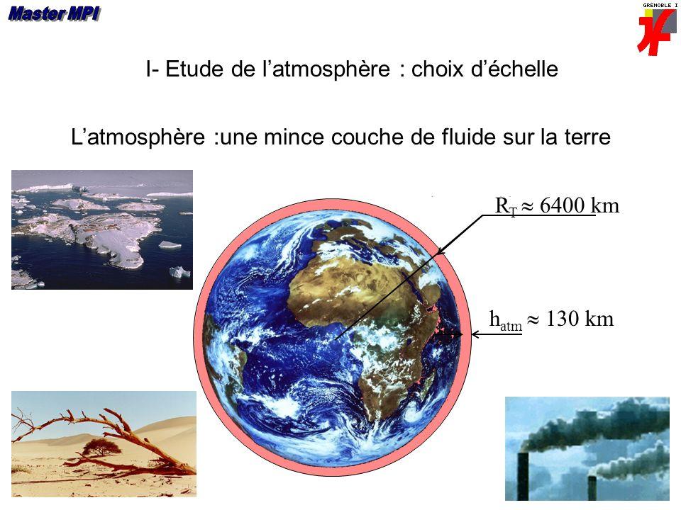 I- Etude de l'atmosphère : choix d'échelle
