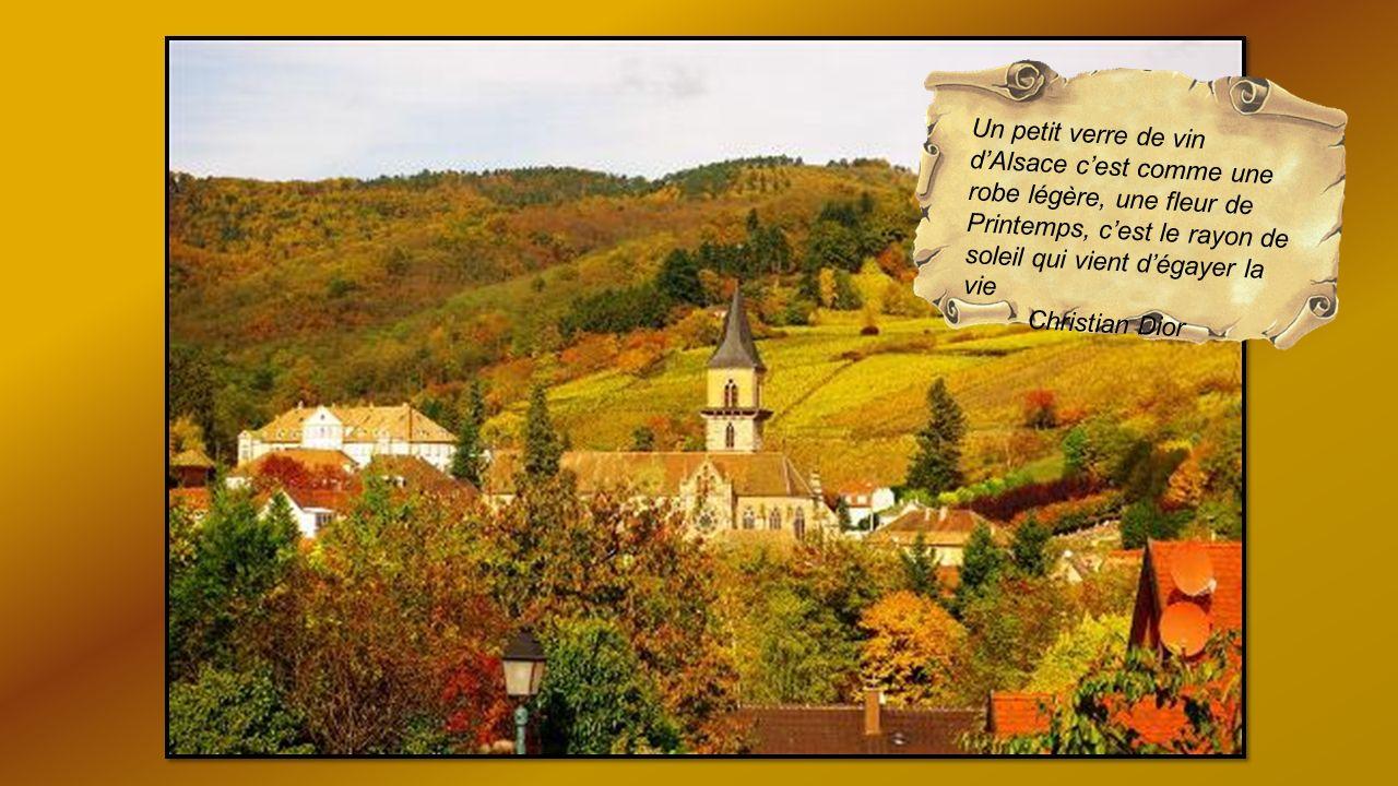 Un petit verre de vin d'Alsace c'est comme une robe légère, une fleur de Printemps, c'est le rayon de soleil qui vient d'égayer la vie