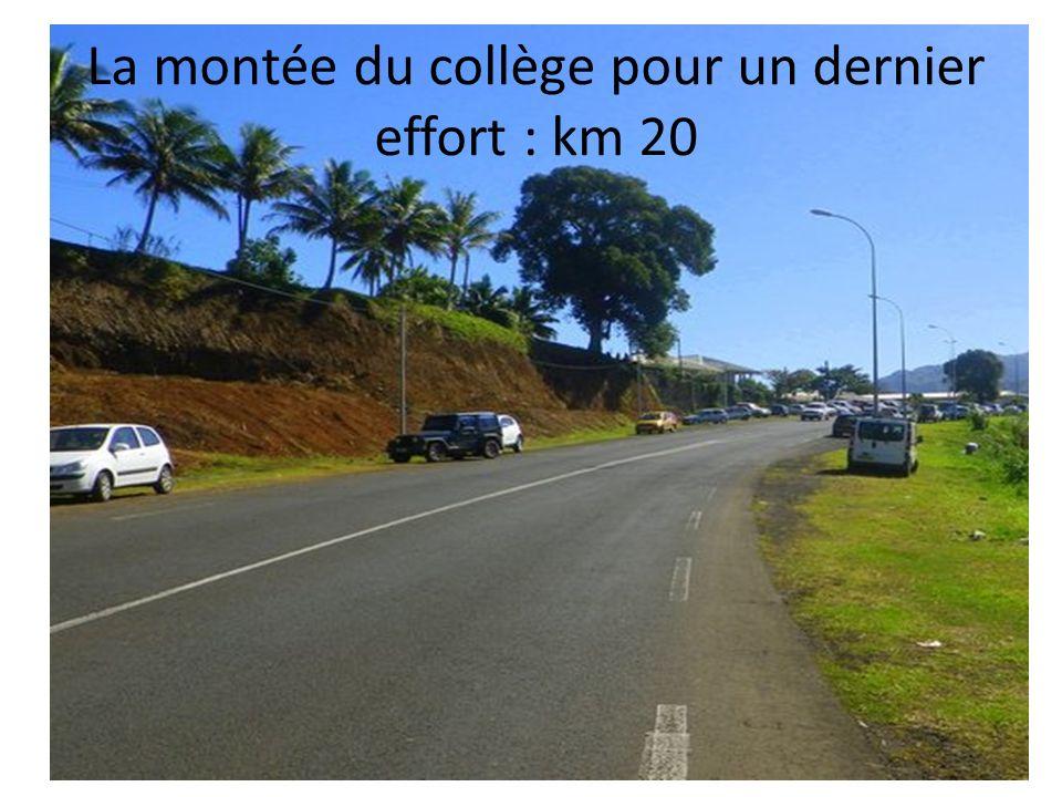 La montée du collège pour un dernier effort : km 20