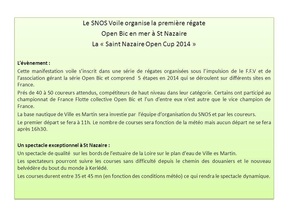 Le SNOS Voile organise la première régate Open Bic en mer à St Nazaire