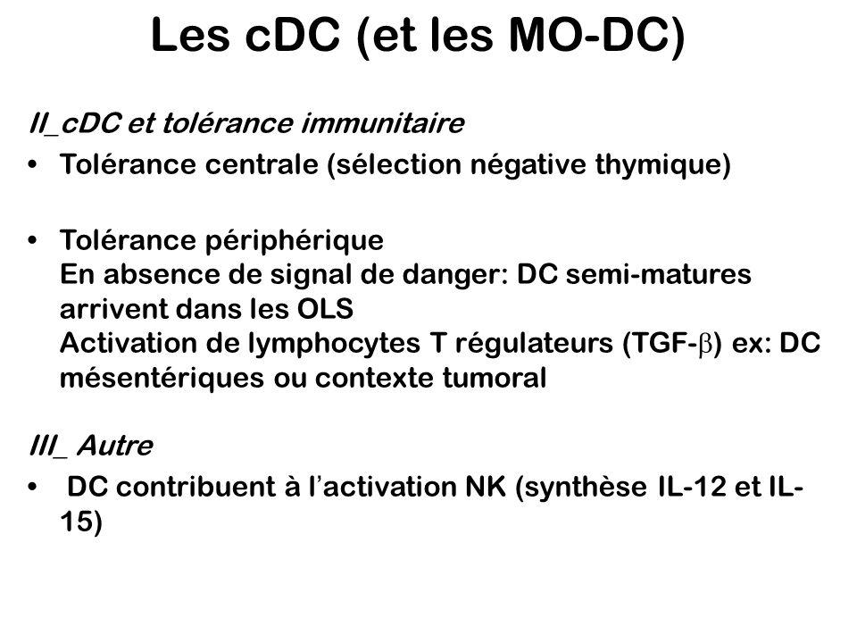 Les cDC (et les MO-DC) II_cDC et tolérance immunitaire
