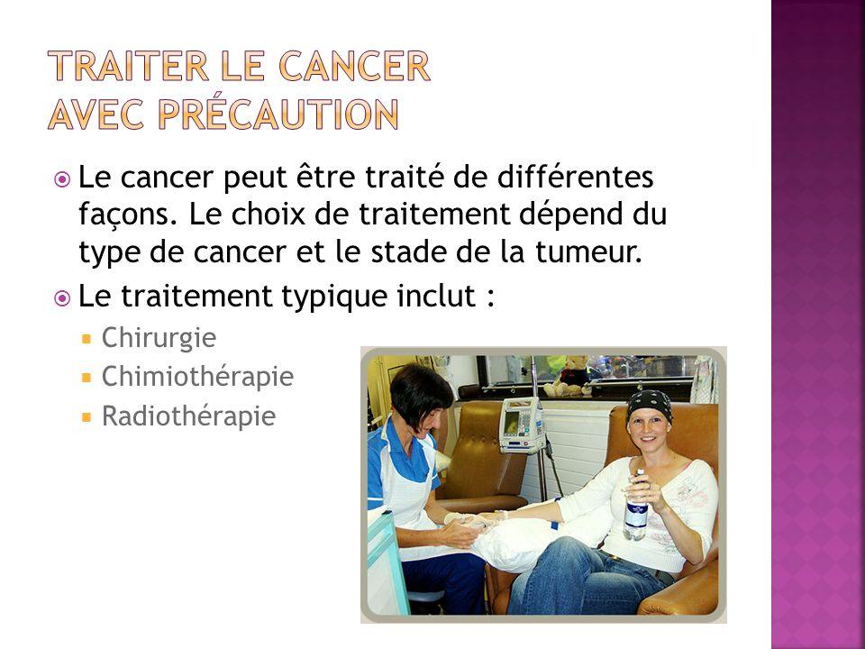 Traiter le cancer avec précaution