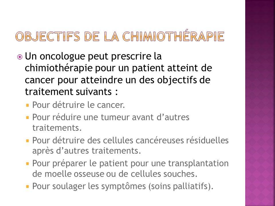 Objectifs de la chimiothérapie