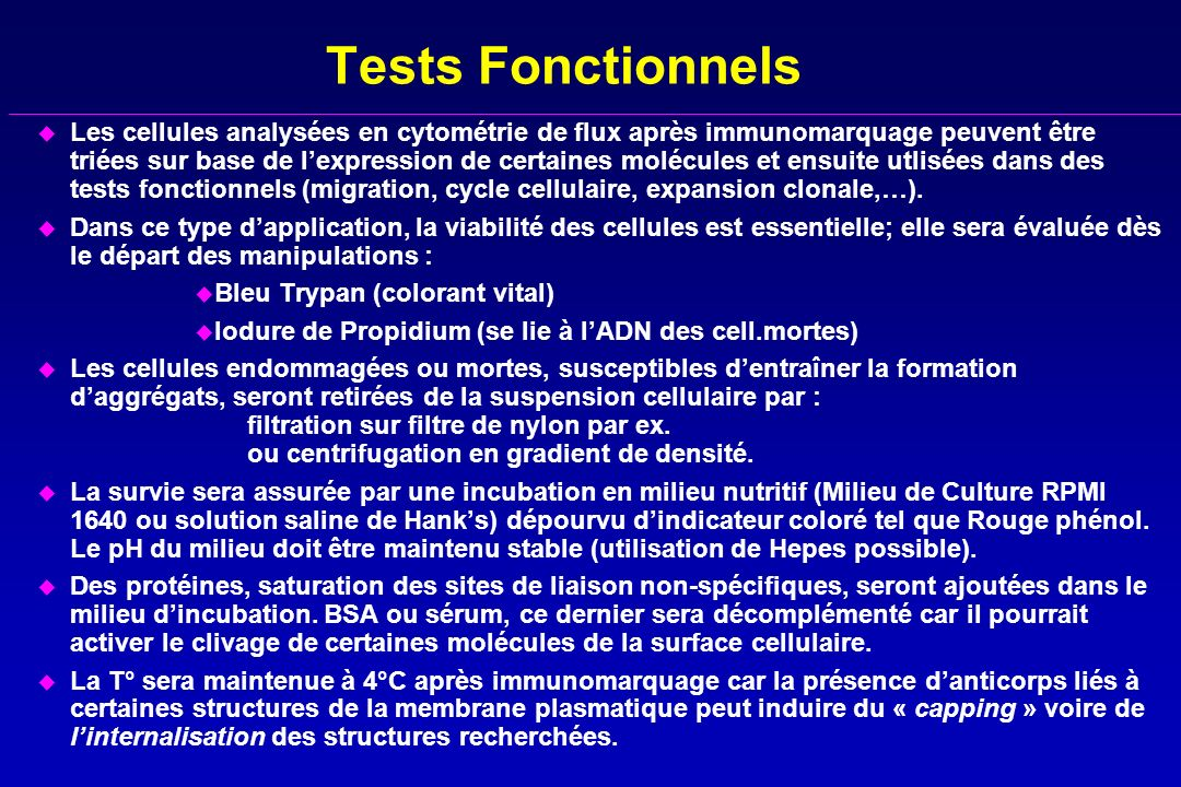 Tests Fonctionnels