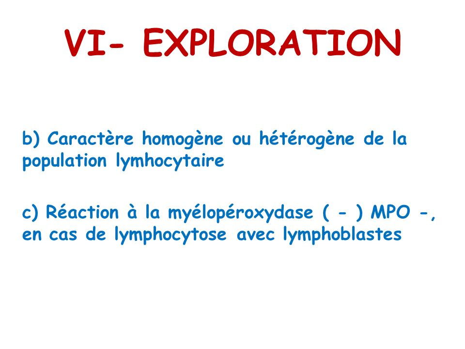 VI- EXPLORATION